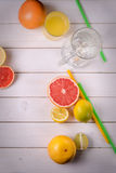 The best variant for fitness workout. Cocktail for health. Healthy fruits with vitamins on a wooden table Royalty Free Stock Photo