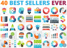 Best vector circle infographics set. Business diagrams, arrows graphs, startup logo presentations and idea charts. Data Stock Image