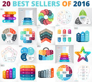 Best vector circle infographics set. Business diagrams, arrows graphs, startup presentations and charts. Data options. Layout for your options or steps. Abstract Stock Photo