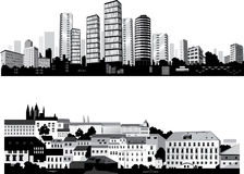 The best vector City silhouettes. Set. stock illustration