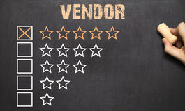 Best vendor five golden stars.Chalkboard Stock Image