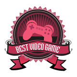 Best video game badge Stock Photo