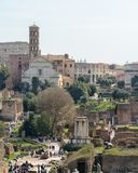 Capitol Hill. Rome. Italy. 12. March. 2017. View of the Roman Forum. stock images