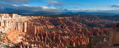 The best view of the Bryce Canyon NP at sunrise royalty free stock photos