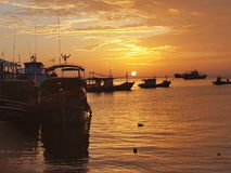 Best view kohtao thailand holiday sunrise Royalty Free Stock Photo