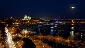 Best view of Palma de Mallorca with the Cathedral Santa Maria Stock Photo