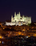 Best view of Palma de Mallorca with the Cathedral Santa Maria Royalty Free Stock Photography