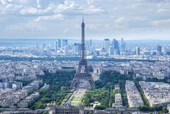 Best view to The Eiffel Tower royalty free stock image