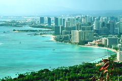 Best view in waikiki stock images