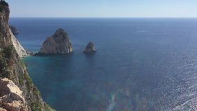 The best views of the island of Zakynthos, Greece. stock footage