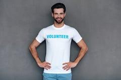 Best volunteer. Stock Photography
