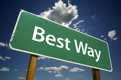 Best Way Road Sign Royalty Free Stock Photography
