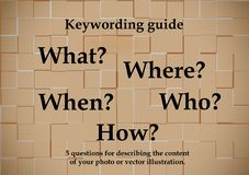 Key-wording guide royalty free stock photo