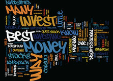 Best Way To Invest Money Word Cloud Concept. Best Way To Invest Money Text Background Word Cloud Concept Stock Images