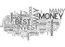 Best Way To Invest Money Word Cloud Stock Image