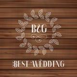 Best wedding label Stock Photography