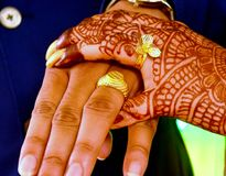 Indian Engagement Photography or Ring Ceremony stock photos