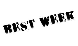 Best Week rubber stamp Royalty Free Stock Photos