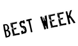 Best Week rubber stamp Stock Photo