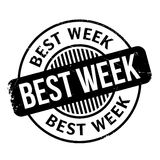Best Week rubber stamp Royalty Free Stock Image
