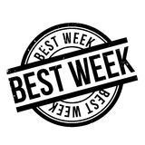 Best Week rubber stamp Royalty Free Stock Photography