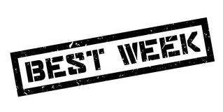 Best week rubber stamp Stock Photography