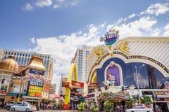 Best Western más el casino Royale, McDonalds y Harrahs Imagen de archivo libre de regalías