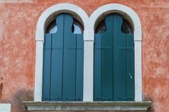 The best windows in the beautiful city of Venice stock photos