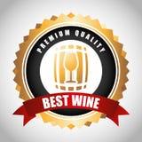 Best wine design Stock Image