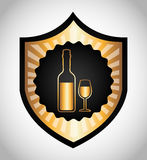 Best wine design Royalty Free Stock Photography