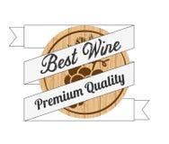 Best wine design Royalty Free Stock Photo