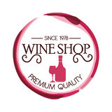 The best wine shop seal guaranteed Royalty Free Stock Image