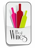 Best Wines Badge Royalty Free Stock Images