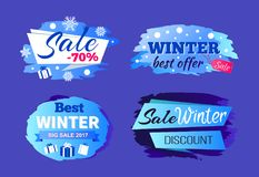 Best Winter Big Sale 2017 Special Offer Discounts Stock Image