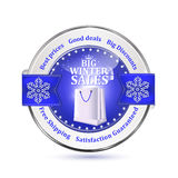 Best winter deals. Special offer, Big Sales  icon / sticker Stock Image
