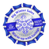 Best winter deals. Special offer, Big Sales  icon / sticker Stock Photo