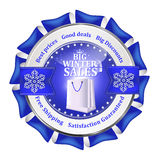 Best winter deals. Special offer, Big Sales  icon / sticker Royalty Free Stock Image