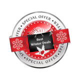 Best winter deals. Special offer, Big Sales  icon / sticker Stock Photos