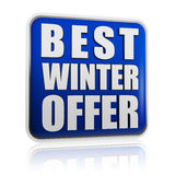 Best winter offer banner Royalty Free Stock Photography