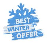 Best winter  offer Royalty Free Stock Image