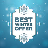 Best winter offer in beautiful frame Stock Images