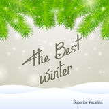 The best winter superior vacation Royalty Free Stock Images