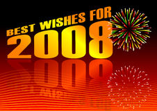 Best wishes. Vector of best wishes for 2008 Stock Image