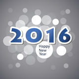 Best Wishes - Abstract Modern Style Happy New Year Greeting Card or Background, Creative Design Template - 2016 Stock Photos