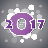 Best Wishes - Abstract Modern Style Happy New Year Greeting Card or Background, Creative Design Template - 2017 Royalty Free Stock Photos