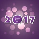 Best Wishes - Abstract Modern Style Happy New Year Greeting Card or Background, Creative Design Template - 2017. Best Wishes - Abstract Colorful Modern Styled royalty free illustration