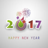 Best Wishes - Abstract Modern Style Happy New Year Greeting Card or Background, Creative Design Template - 2017 Stock Images
