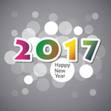 Best Wishes - Abstract Modern Style Happy New Year Greeting Card or Background, Creative Design Template - 2017 Stock Image