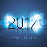 Best Wishes - Abstract Modern Style Happy New Year Greeting Card or Background, Creative Design Template - 2017 Stock Photo