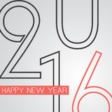 Best Wishes - Abstract Retro Style Happy New Year Greeting Card or Background, Creative Design Template - 2016 Royalty Free Stock Image